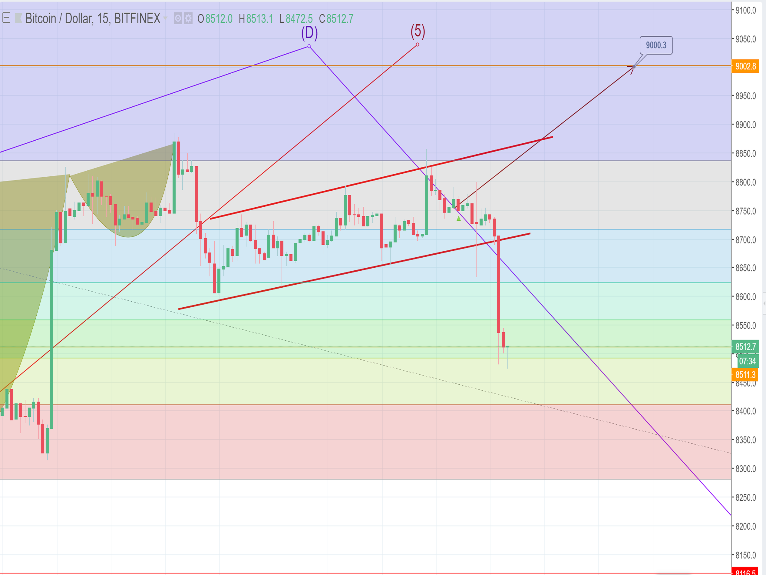 The bear is threatening the Bitcoin price, $9000 will be the next resistance level