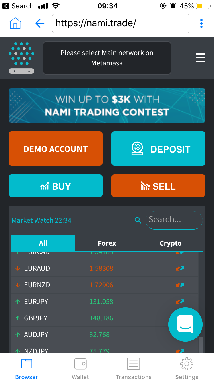 trust, nami.trade, exchange, erc20, token, cryptocurrencies, ethereum
