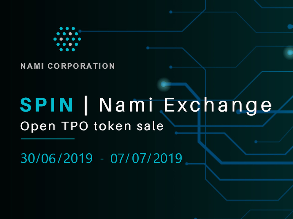 SPIN opens token sale on Nami Exchange 15/06/2019
